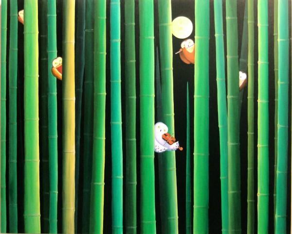 대나무숲속-연주-F100-162.2x130.3 Acrylic, 2011