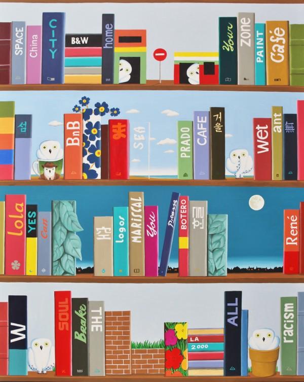 Bookshelf, 130x162cm, acrylic, 2016