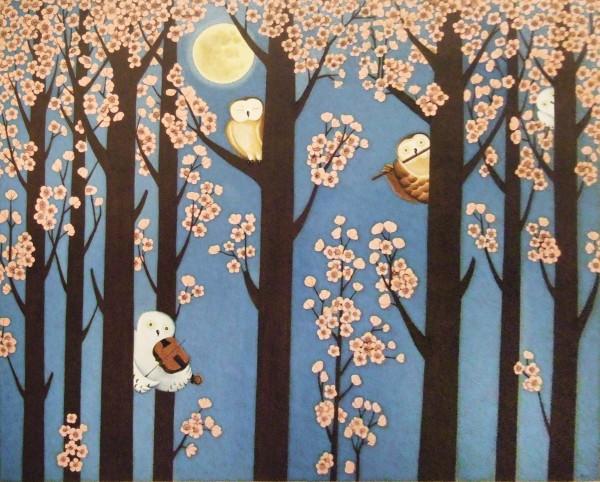 봄 그리고 세레나데, 162x130cm, acrylic on canvas, 2011