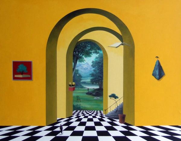2014 유선태 - 말과 글 '나의 정원' F50 Acrylic on canvas