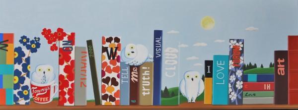 Bookshelf, 160x60cm, acrylic, 2016(안윤모 키아프 이미지)