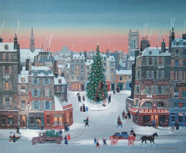 Noël est de retour_ Original serigraph 72.4x59.7