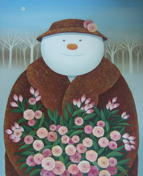 김은기-snow man 2010 F15 53x65.1 oil on canvas
