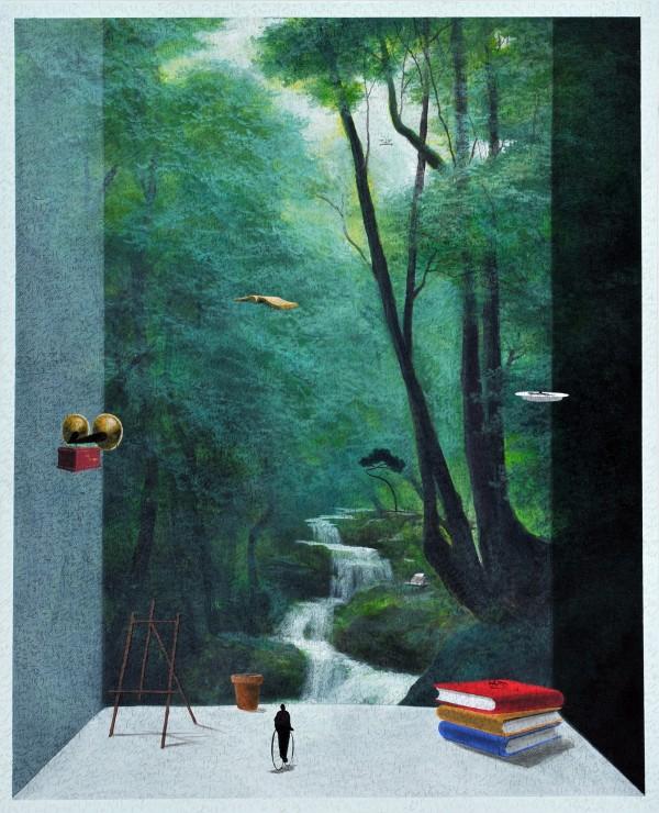 유선태-말과 글_편지5 2013 65.1x53 Acrylic on canvas -1