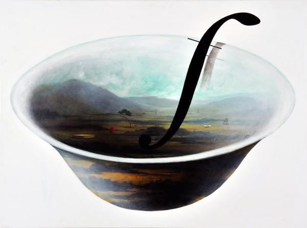 유선태-말과 글_풍경 2009 97x130.3 Acrylic on canvas