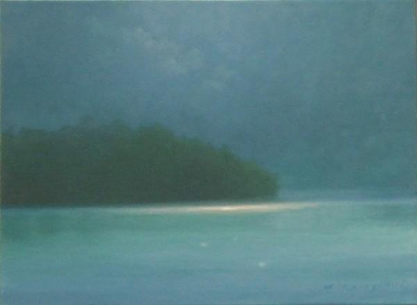 김동철 자연_ 우아한 블루의 기억 F4 33.4x24.2 2008 oil on canvas