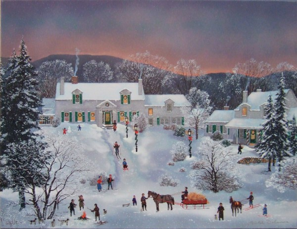 Winter in New England(뉴 잉글랜드의 겨울)_72x53.5_Serigraph on canvas