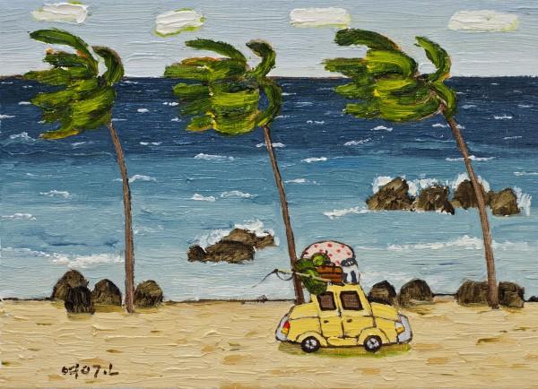 여행-야자수가 있는 바다Ⅰ 25x34cm oil on canvas
