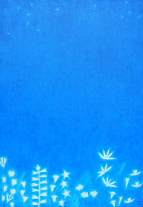 박남철-무천 F50(116.8x80.3) 목천위에 수간채색 (꽃밭)