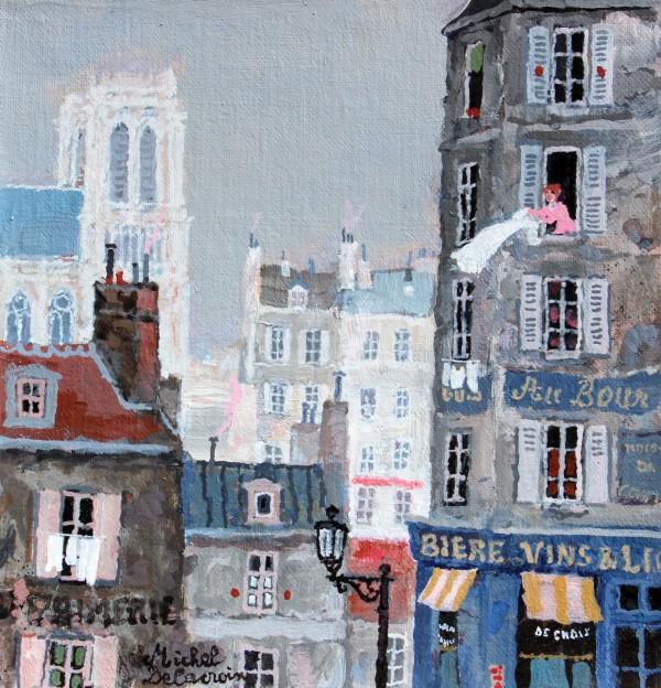 Le matin à Paris (19x18cm)