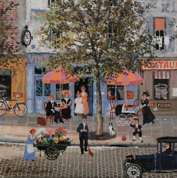 Matin de printemps rue Montsouris 23x24cm