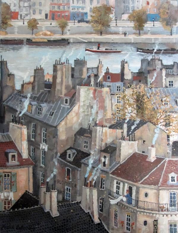 Vue sur la Seine 40x30cm