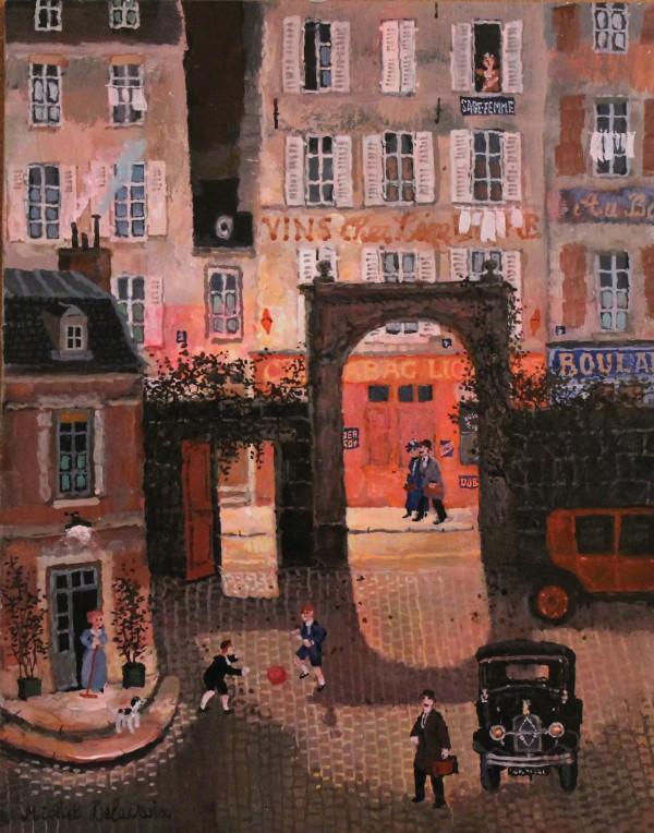 Cour rue de la Croix-Nivert (32x25cm)