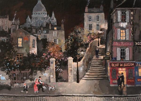 Montmartre le campagne a Paris 24x33cm