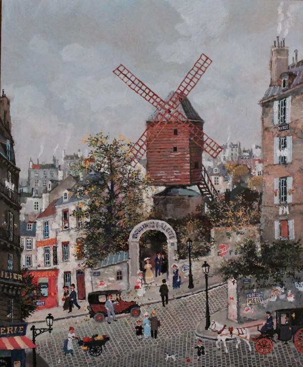 Moulin de la Galette, jour de Printemps 46x38cm