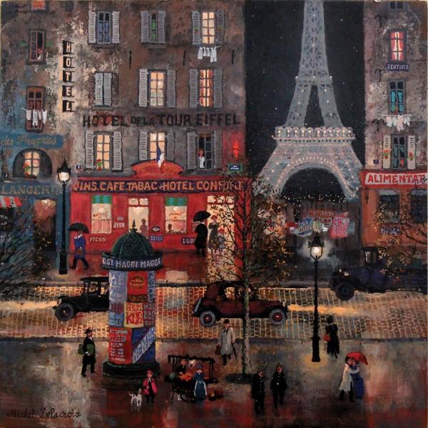 Hotel de la Tour Eiffel 40x40cm