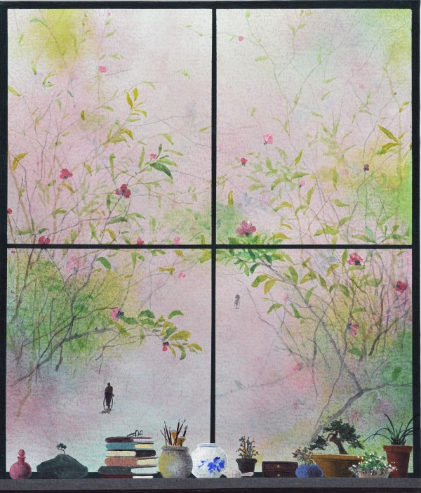 유선태-말과 글3 2013 53x45.5 Acrylic on canvas