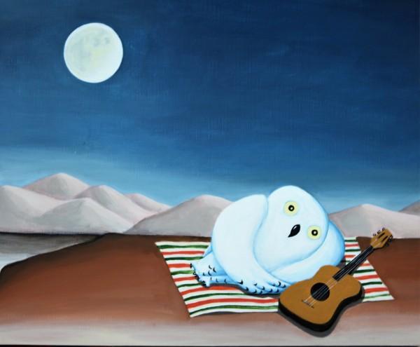 Owl Gypsi, 53x45cm, acrylic, 2017