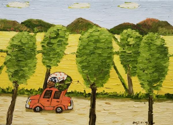 여행-황금들녁 25x34cm oil on canvas 2012