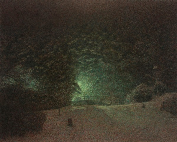 이만나_눈 밤 The Snowy Night_oil on canvas_130.3 x 162 cm_2014
