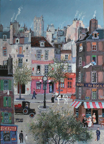 Michel Delacroix_ Rue Saint-Jacques_Acrylic on Boarf_46x33cm