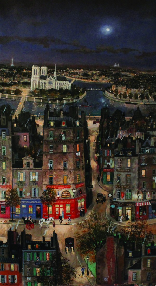 Michel Delacroix_Grand Paris_Acrylic on Board_110x60_2016