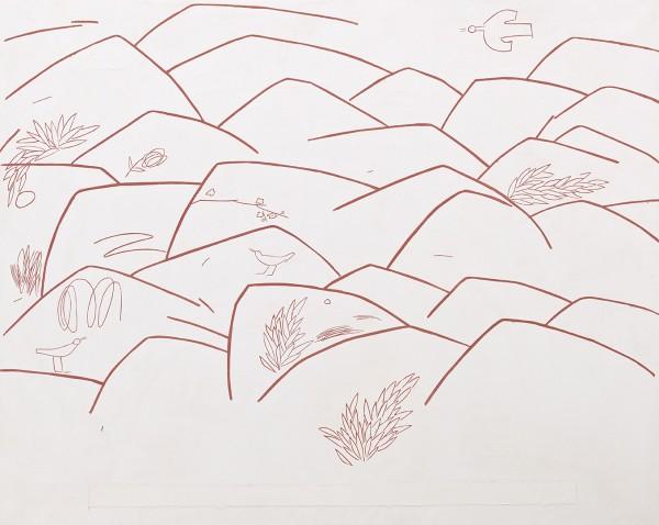 유미선, 새의노래, 162x130cm, 장지위에 석채와, 2016