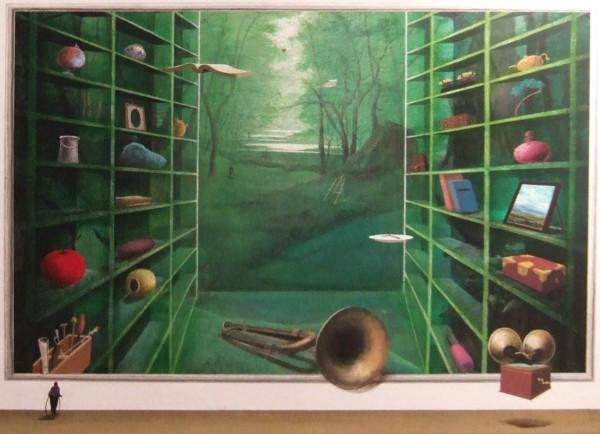 말과 글 - 아뜰리에의 숲 2012 F20호 72.7x60.6 Acrylic on canvas