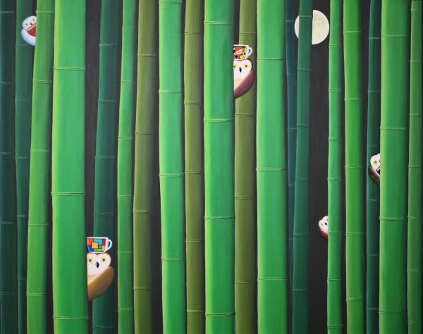 커피와 대나무 숲, 162x130cm, acrylic, 2019