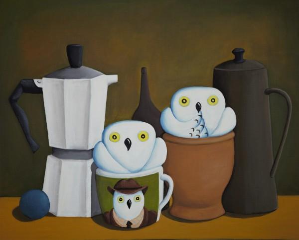 커피와 연인, 53x45cm, acrylic, 2019