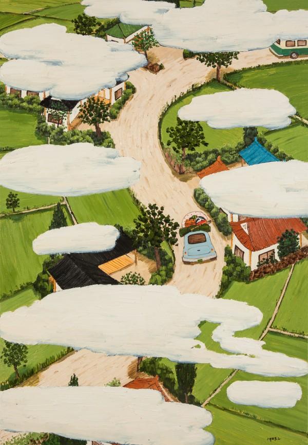 마을이 보이는 풍경 162.2x112.1cm oil on canvas 2019