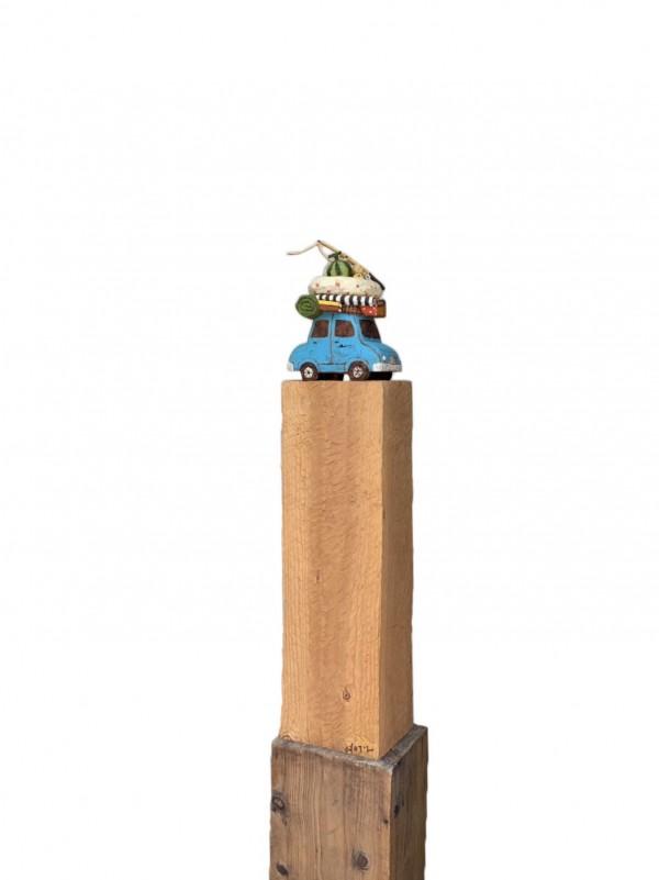 여행 112x23x14cm 나무에채색 2012