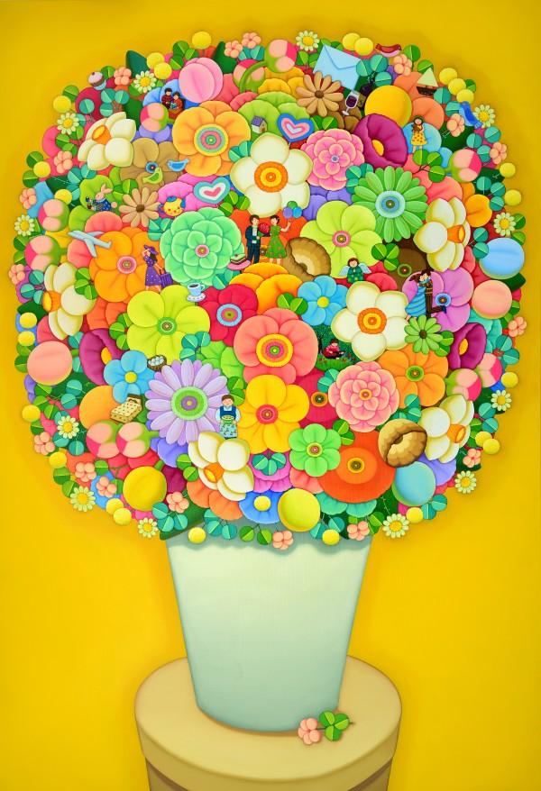 행복한 정원 162x112cm oil on canvas 2020 줄임