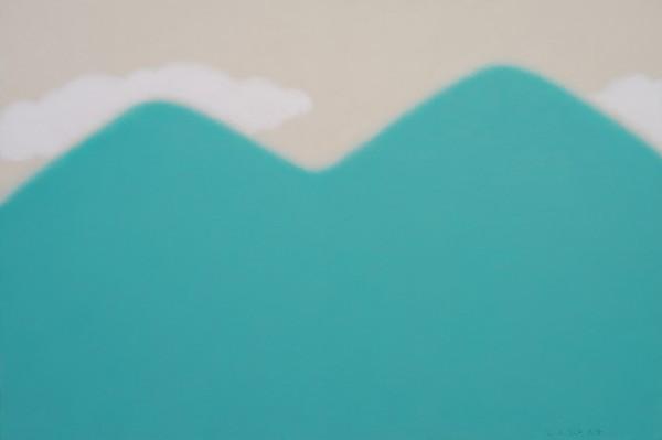 ,오순환,푸른산 흰구름,Acrylic on canvas. 91x60.6cm