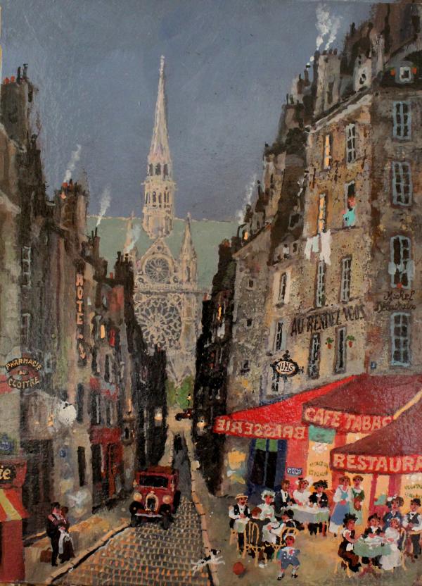 1.미셸 들라크루아 Michel Delacroix_La Bonne Vie(좋은 인생)_30x41cm_Acrylic on canvas_2020