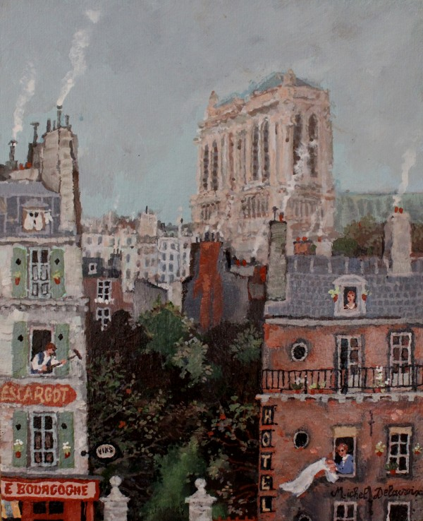 5.미셸 들라크루아 Michel Delacroix_Hotel du Parc_22x27cm_Acrylic on canvas_2020